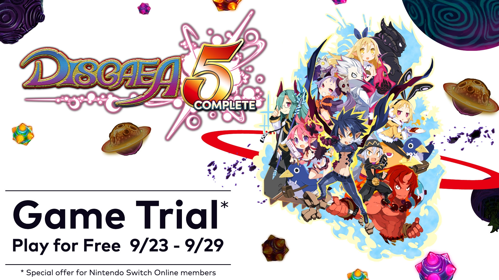 Disgaea 5 Complete Game Trial Available For Nintendo Switch Online Subscribers For One Week