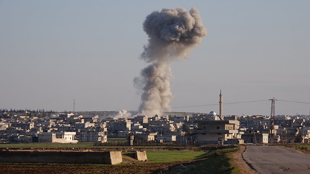Air strike in northwest Syria kills more than 50 rebel fighters