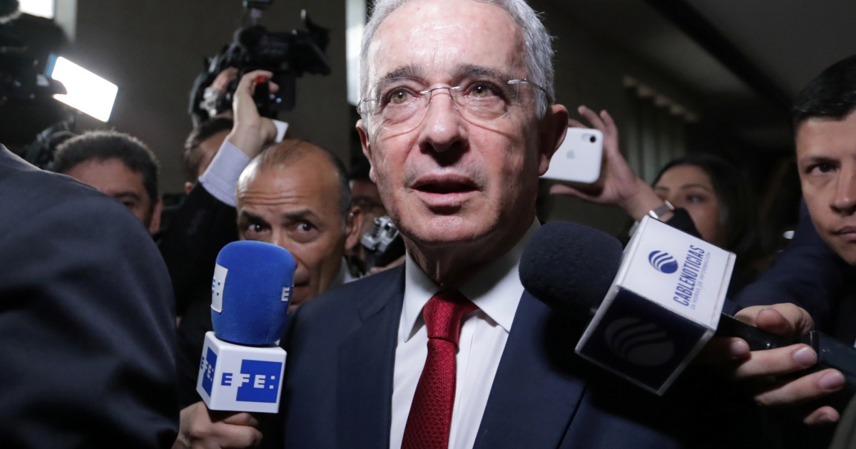 Judge lifts house arrest order on ex-Colombian President Uribe