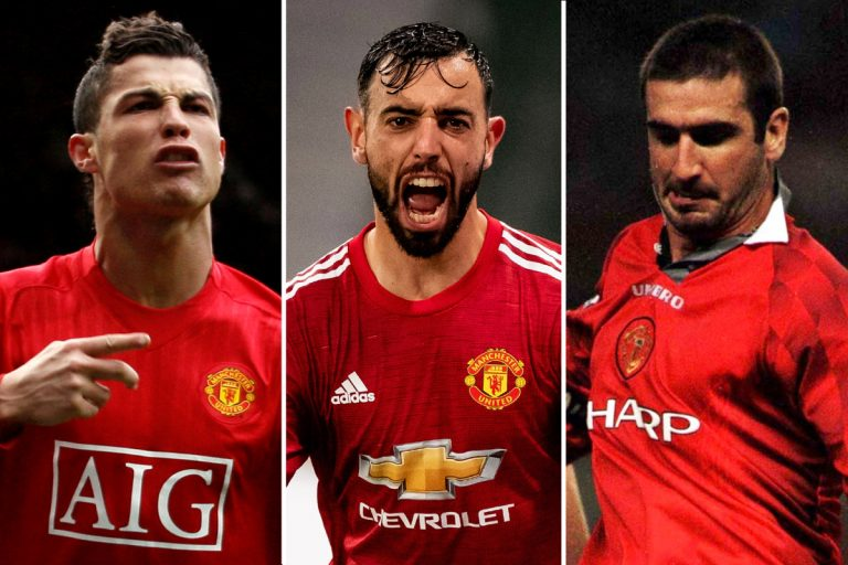 Bruno Fernandes compared to Man Utd legends Cristiano Ronaldo and Eric Cantona after retaking saved penalty vs PSG