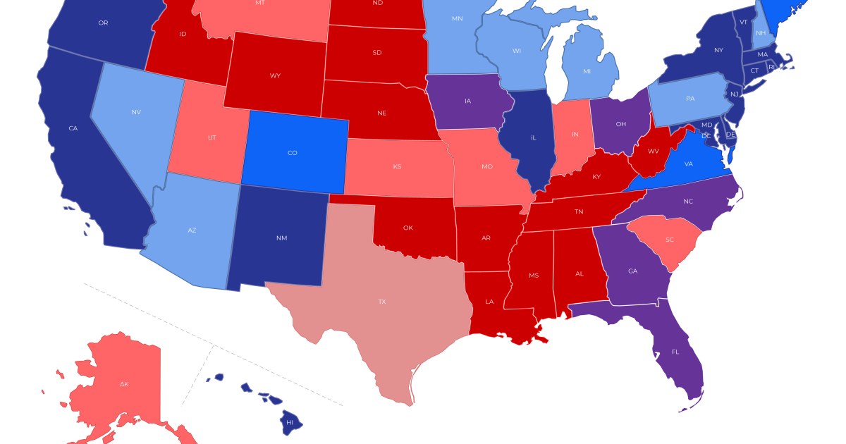 Trump has a narrow path to an Electoral College victory