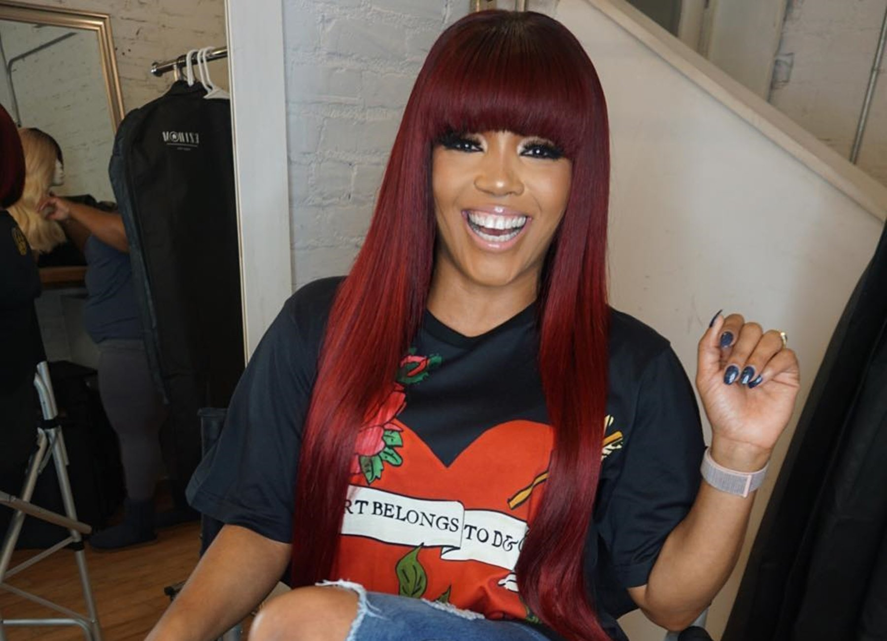 Rasheeda Frost Shows Off Rainbow Hair And Fans Are Here For It – See Her Video