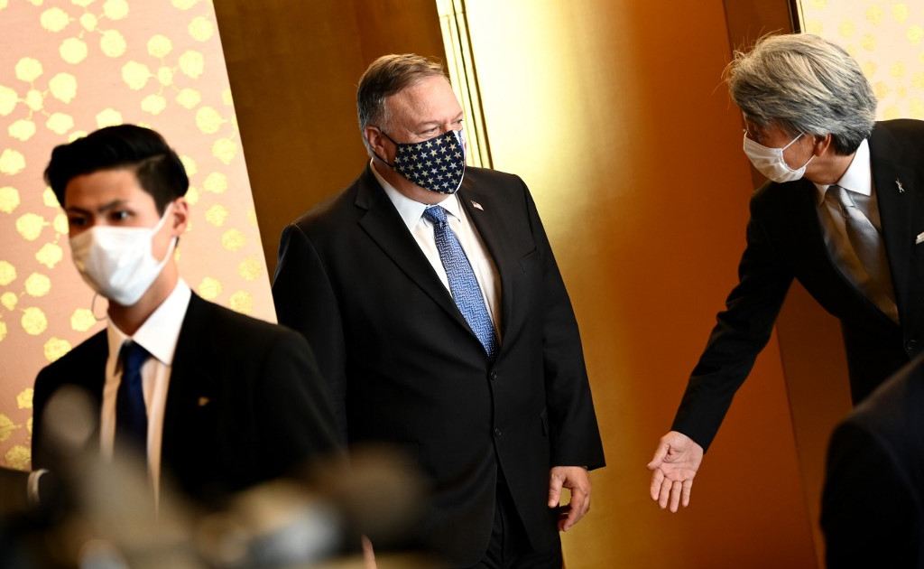 Pompeo in Japan to boost ties with Asian allies to counter China