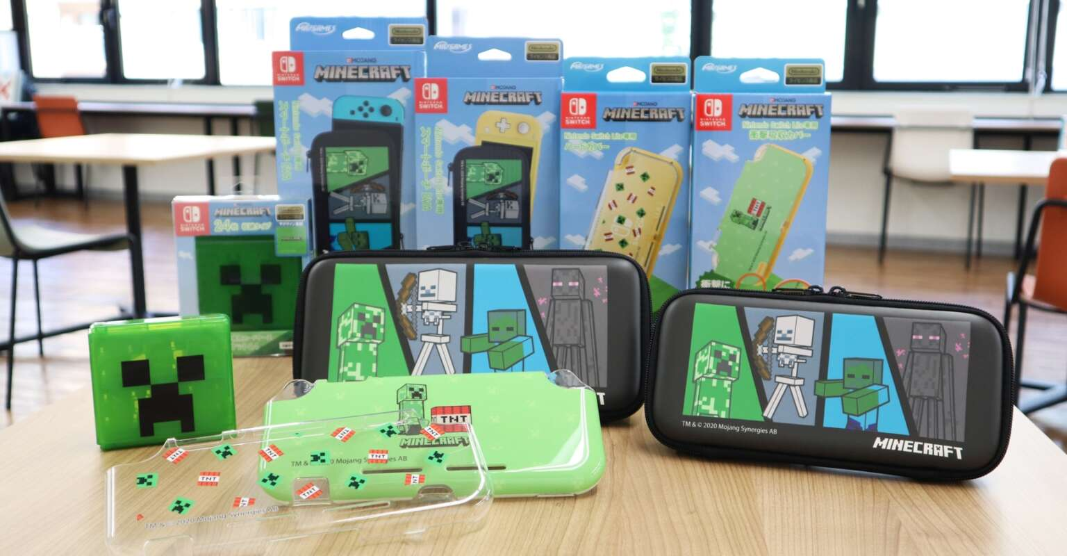 Max Games Releases Minecraft-Themed Nintendo Switch Accessories In Japan