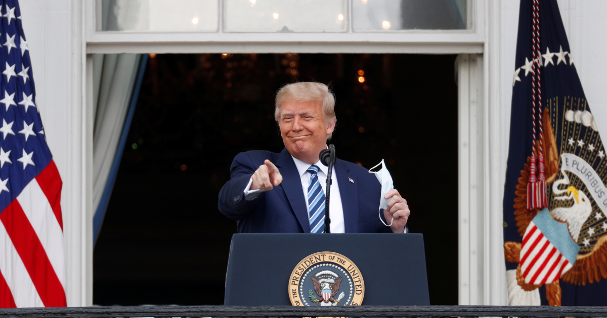 Trump holds first public event since COVID-19 diagnosis