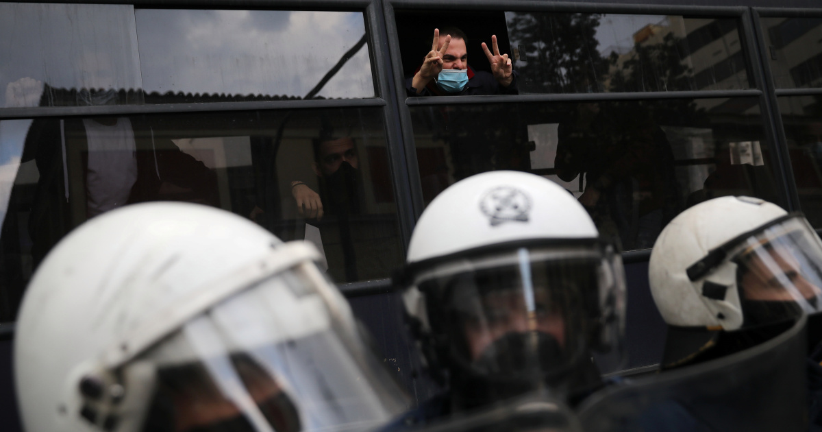 Greek police use tear gas to break up march marking 1973 uprising