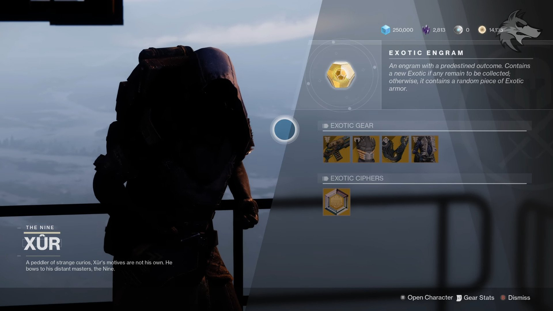 Destiny 2: All New Exotics And Inventory Updates To Xur, Destiny 2's Favorite Wanderer Week Of 11/10/20