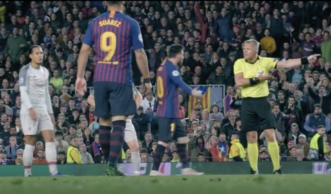Lionel Messi was told to 'show some respect' by ref Bjorn Kuipers