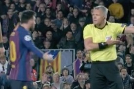 Lionel Messi told to 'show some respect' by ref who berates Barcelona ace for time-wasting vs Liverpool