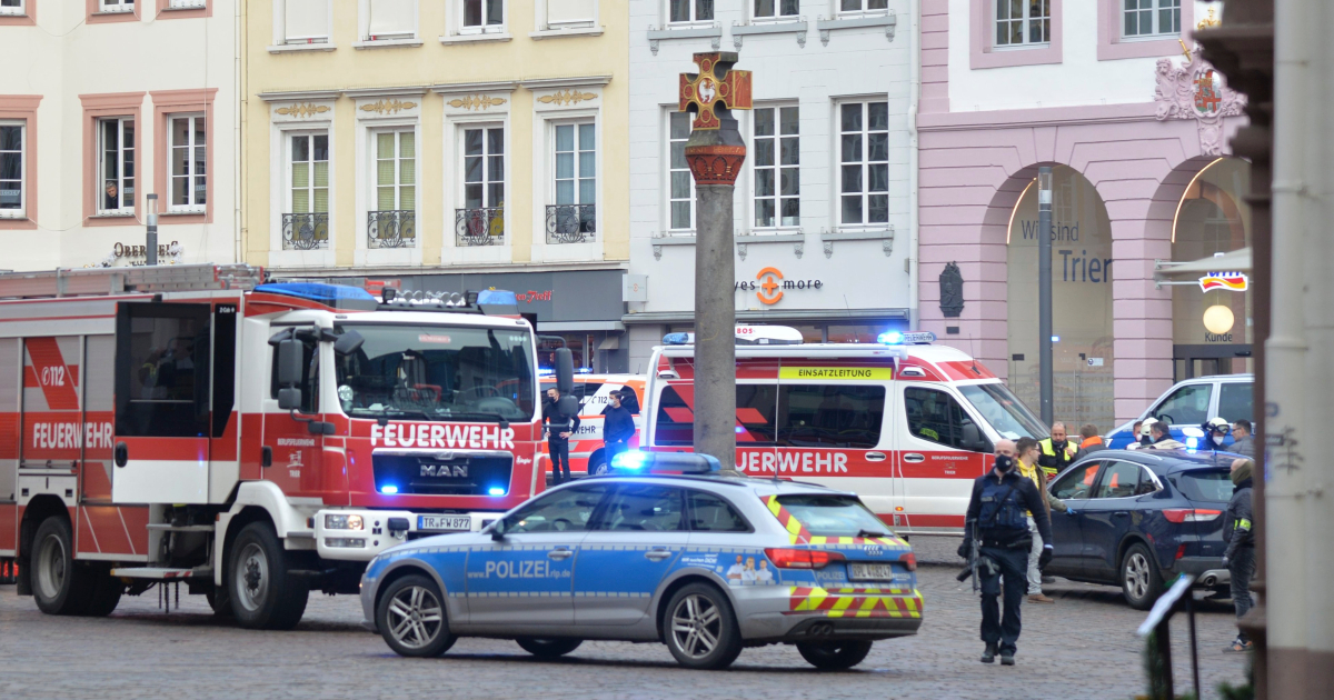 Car hits pedestrians in German town, killing at least two