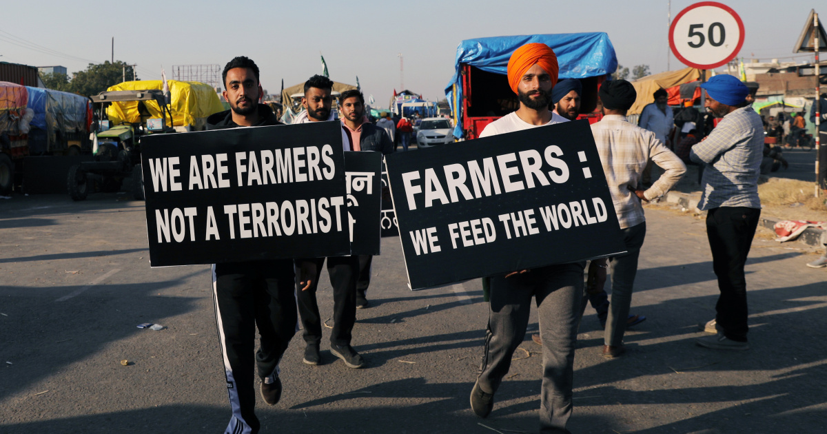 Protesting farmers, asking for a raise and flying canines