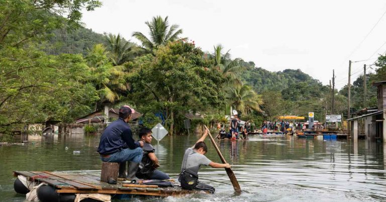 'That roof over there is mine': Guatemala's flooded communities