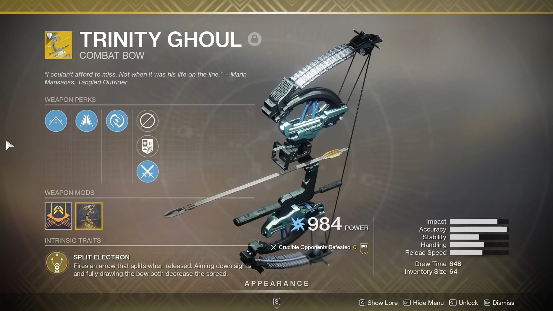 Destiny 2: Xur Location And Inventory For Weekend Of December 11th – Trinity Ghoul Exotic Bow For Sale