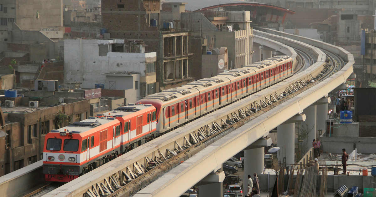 Running over the ruins of my home: Lahore's Orange Train