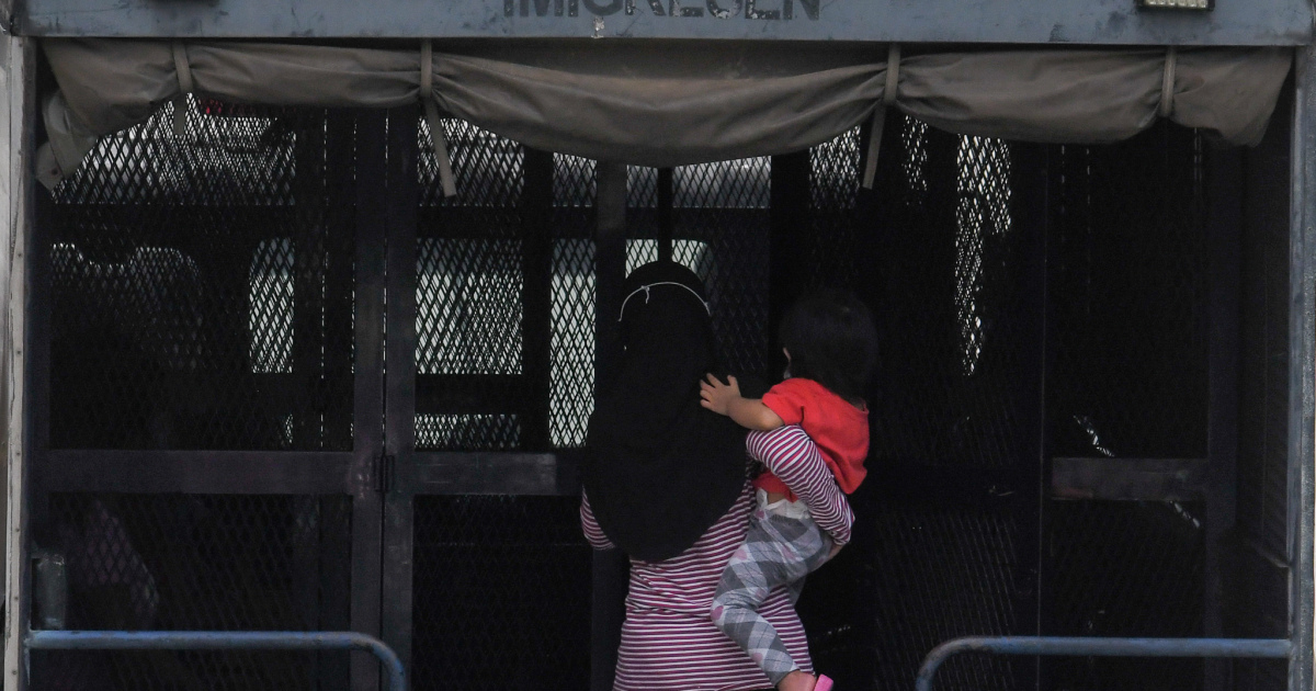 Lone children among hundreds in Malaysia immigration detention